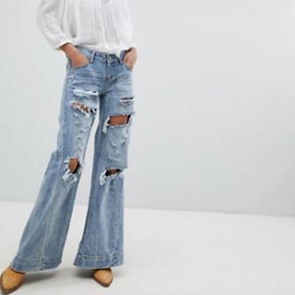 select for best shop for best entire collection One teaspoon ripped flare jeans